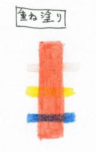 ステッドラー 消せる色鉛筆 ノリスクラブを重ね塗り