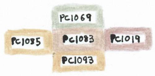 PC1083と似ている色